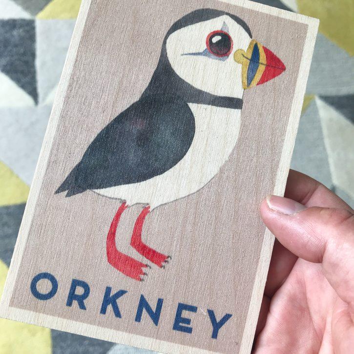 Wooden Postcard Company - Matt Sewell - Puffin
