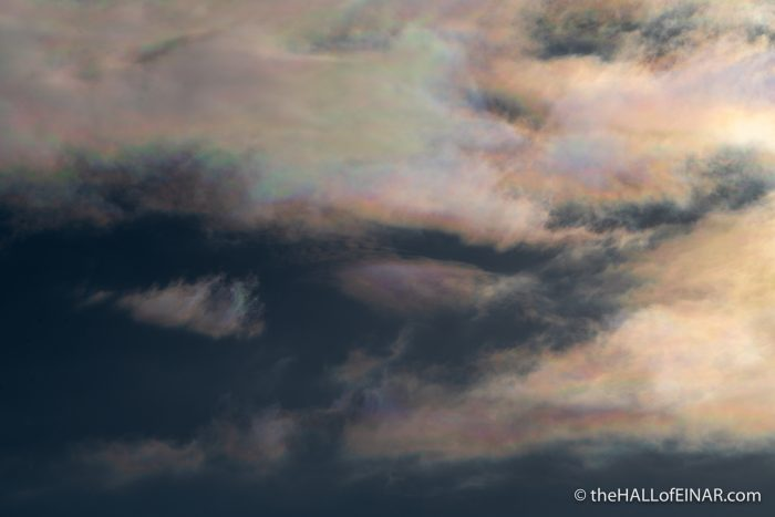 Iridescent Clouds - The Hall of Einar - photograph (c) David Bailey (not the)
