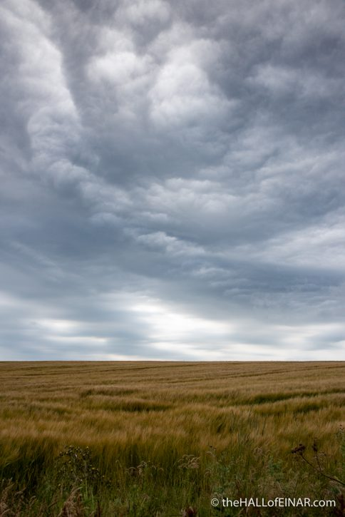 Clouds on Westray - The Hall of Einar - photograph (c) David Bailey (not the)