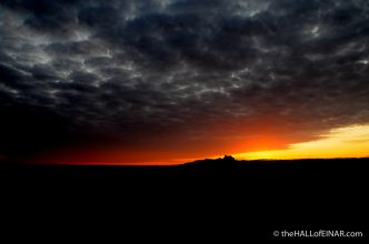Sunset over Tafts - The Hall of Einar - photograph (c) David Bailey (not the)