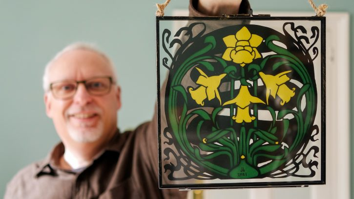 Dunsford Daffodils paper cut - The Hall of Einar (c) David Bailey (not the)