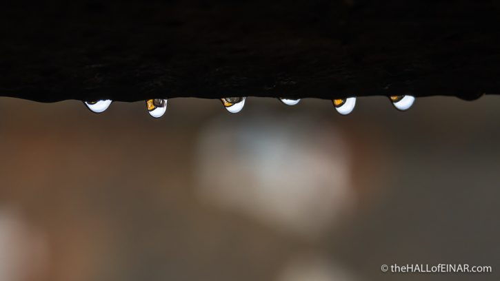 Drops on the railway bridge - The Hall of Einar - photograph (c) David Bailey (not the)