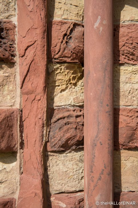Sandstone - St Magnus Cathedral - The Hall of Einar - photograph (c) David Bailey (not the)