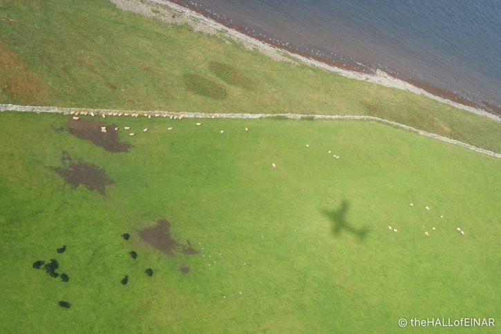 Plane shadow - The Hall of Einar - photograph (c) David Bailey (not the)