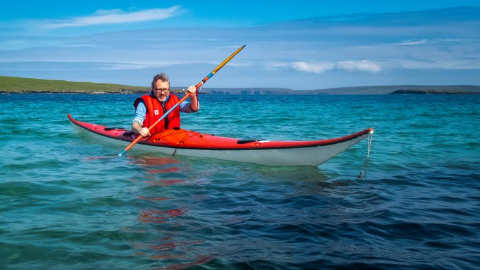Launching the Kayak - The Hall of Einar - photograph (c) David Bailey (not the)