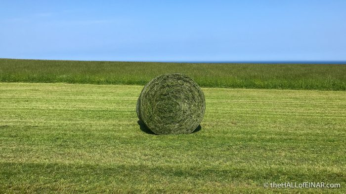 Round bale - The Hall of Einar - photograph (c) David Bailey (not the)