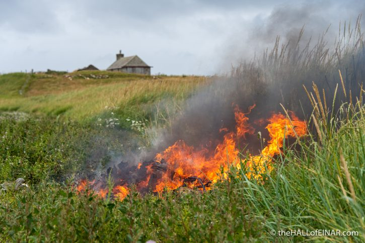 Fire at The Bay of Tafts - The Hall of Einar - photograph (c) David Bailey (not the)